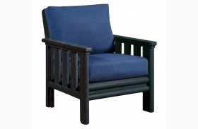 Stratford Chair With Indigo Blue Sunbrella Cushions Sunbrella Cushions
