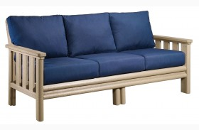 Stratford Sofa With Indigo Blue Sunbrella Cushions