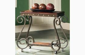 Ellery Medium Cherry Finish Chairside End Table