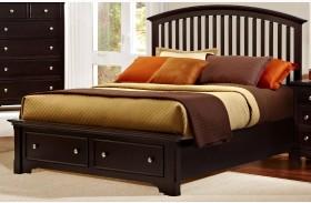 Forsyth Merlot Arched Storage Bed