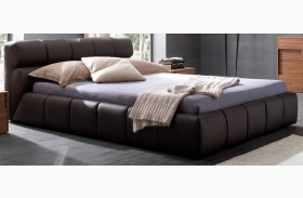 Cloud Brown Leather Bed
