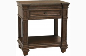 Gallatin Timeworn Mahogany Finish Bedside Table