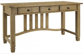 Trishley Weathered Gray Finish Home Office Desk