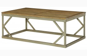 Modern Theory Aged Natural Cocktail Table