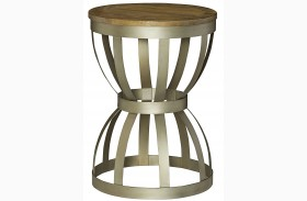 Modern Theory Aged Natural End Table