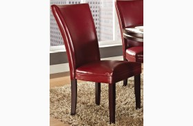 Hartford Red Finish Parsons Chair Set of 2
