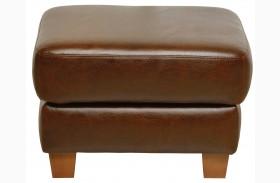 Jennifer Italian Leather Ottoman