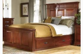 Kalispell Rustic Mahogany Storage Bed