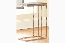 Lucia Grey and Brown Finish Chairside End Table