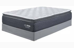 White Youth Pillowtop Mattress With Foundation
