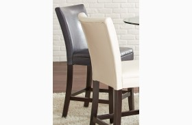 Matinee Grey Leather Counter Chair Set of 2