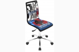 Printed Office Graffiti Print Chair