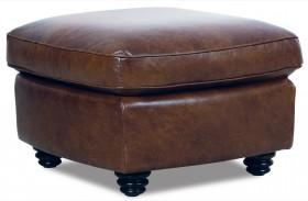 Andrew Italian Leather Ottoman