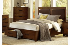 Portland Nutmeg Upholstered Bed
