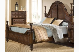Palm Court II Coco Brown Poster Bed