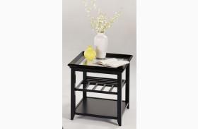 Sandpiper Black Finish Chairside Table