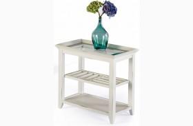Sandpiper II White Finish Chairside Table