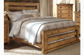 Willow Distressed Pine Slat Bed
