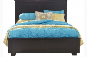 Diego Black Panel Bed