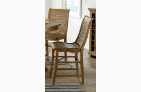 Willow Distressed Pine Finish Counter Chair Set of 2