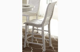 Willow Distressed White Finish Counter Chair Set of 2