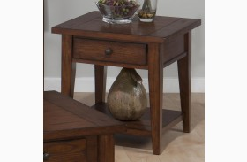 Clay County Oak Finish End Table