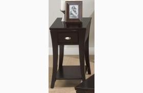 Manhattan Espresso Chairside Table