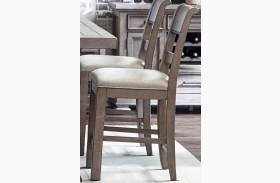 Prospect Hill Gray Finish Gathering Chair Set of 2
