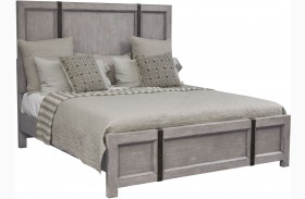 Prospect Hill Gray Panel Metal Strap Bed