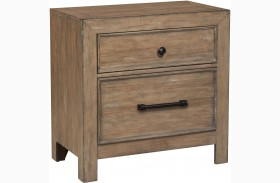 Flatbush Brown Finish Nightstand