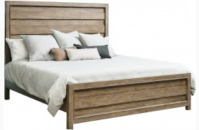 Flatbush Brown Panel Bed
