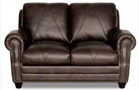 Solomon Italian Leather Loveseat