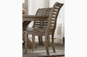 Bayside Crossing Washed Chestnut Finish Side Chair Set of 2