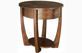 Concierge Medium Brown End Table