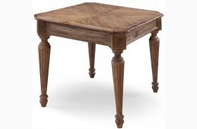 Lloyd Weathered Oak Finish Rectangular End Table