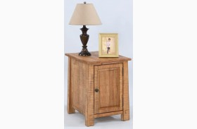 Willow Distressed Pine Finish Chairside Cabinet