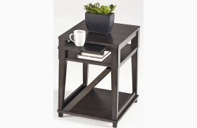 Consort Midnight Finish Chairside Table