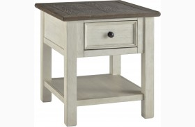 Bolanburg Weathered Gray Finish Rectangular End Table