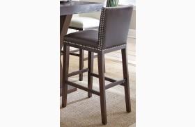 Tiffany Brown Finish Bar Chair Set of 2