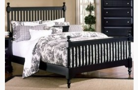 The Cottage Collection Black Slat Poster Bed