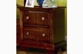 The Cottage Collection Cherry Finish 2 Drawer Night Stand