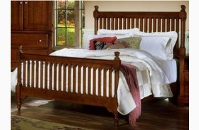 The Cottage Collection Cherry Slat Poster Bed
