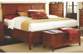Westlake Cherry Brown Storage Bed