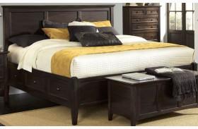 Westlake Dark Mahogany Storage Bed