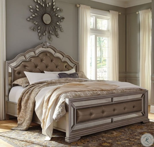 Birlanny Silver Upholstered Panel Bedroom Set B720 57 54: Birlanny Silver Cal. King Upholstered Panel Bed From