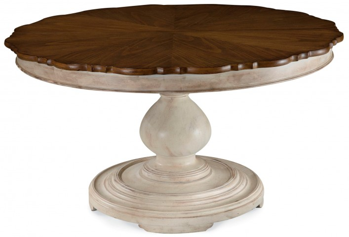 Belmar New Antique Linen Round Dining Table