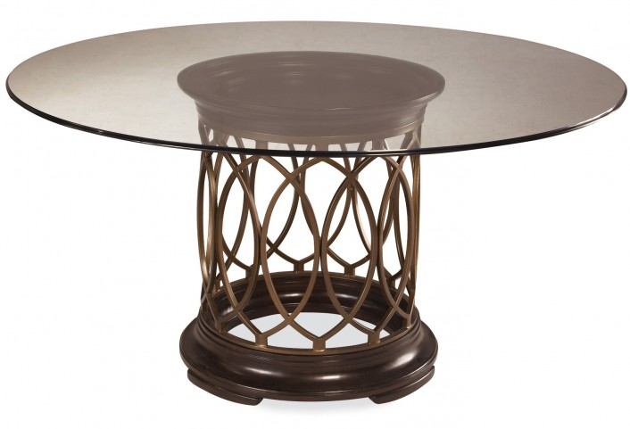 Intrigue Round Dining Table with Glass Top