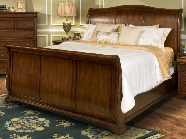 Whitley Court Tobacco Cal. King Sleigh Bed