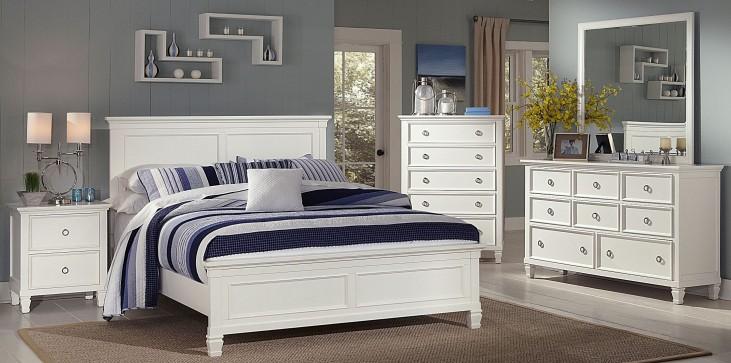 Tamarack White Platform Bedroom Set