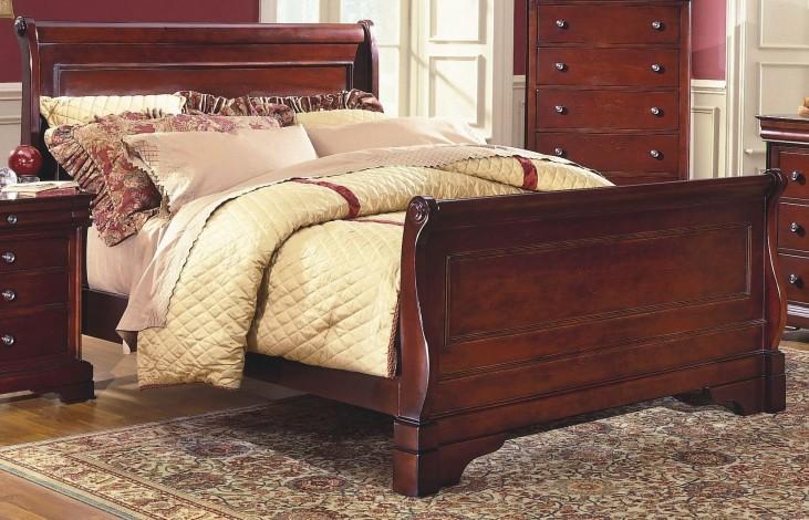 Versaille Bordeaux Queen Sleigh Bed